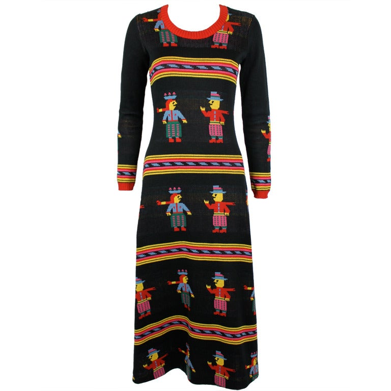 Betsey Johnson For Alley Cat Colorful Knit Dress At 1stdibs