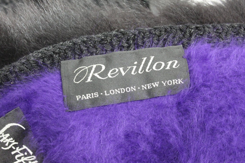 Revillon 1980s Asymmetrical Mink & Angora Sweater with Paillettes 9