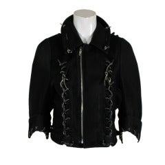 COMME des GARÇONS Football Leather Cord Motorcycle Jacket