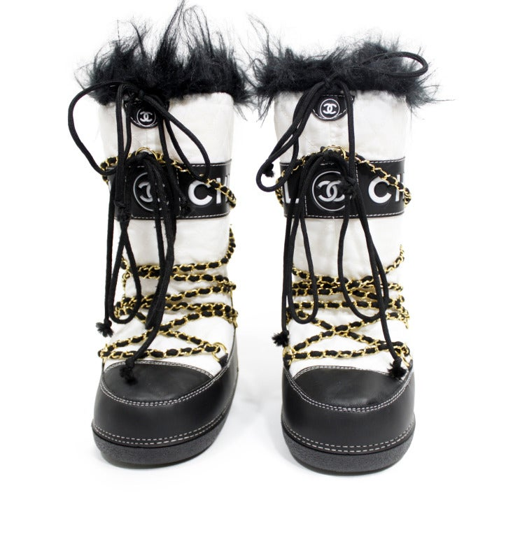 Chanel Quilted Snow Boots image 2