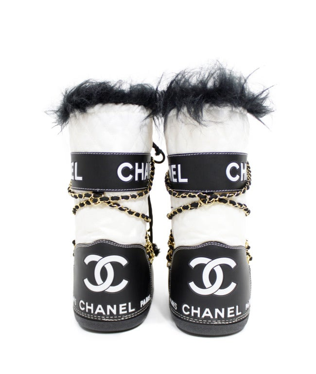 Chanel Quilted Snow Boots image 3