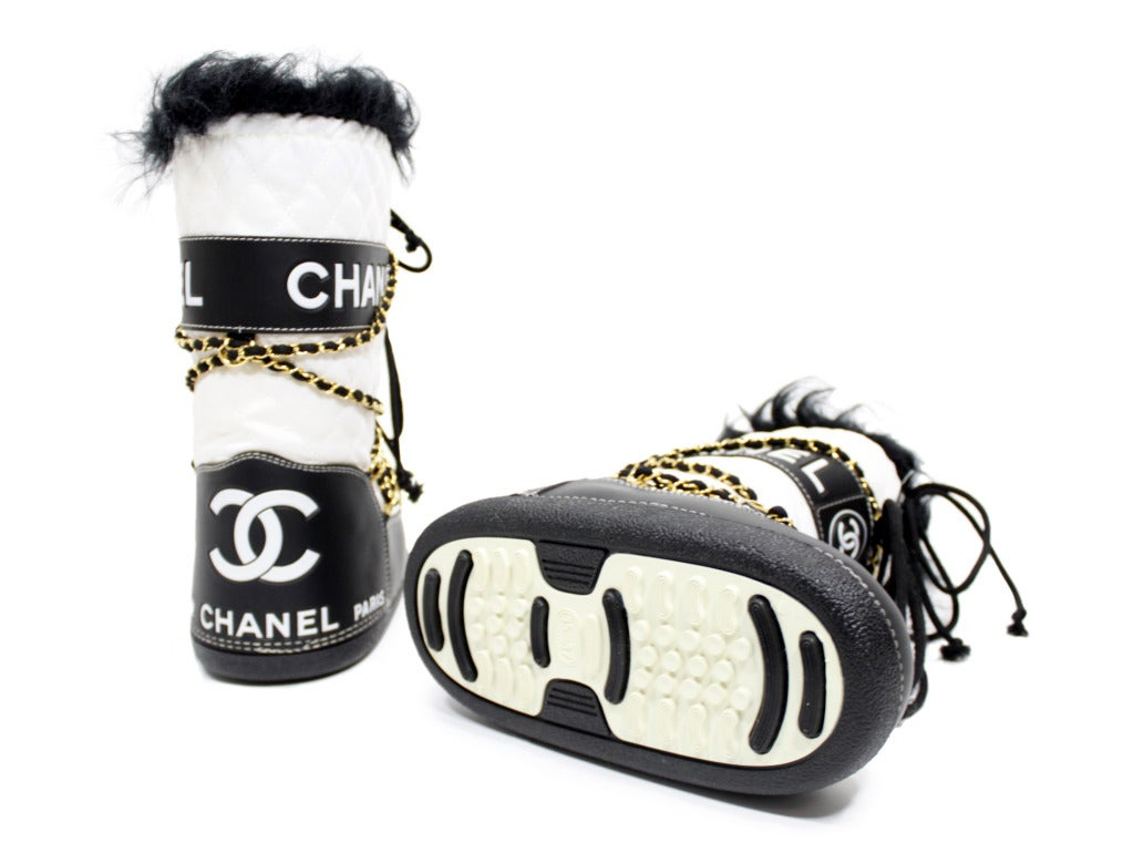 Chanel Quilted Snow Boots image 5