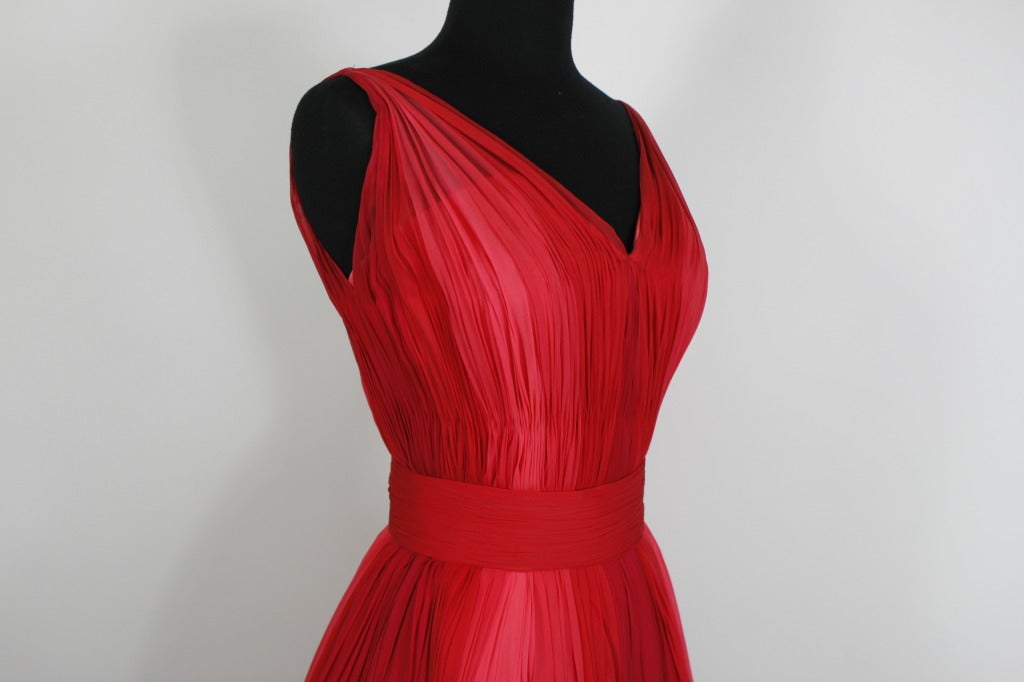 1960s Sophie of Saks Ombrè Rosy Pink Party Dress with Bows image 8