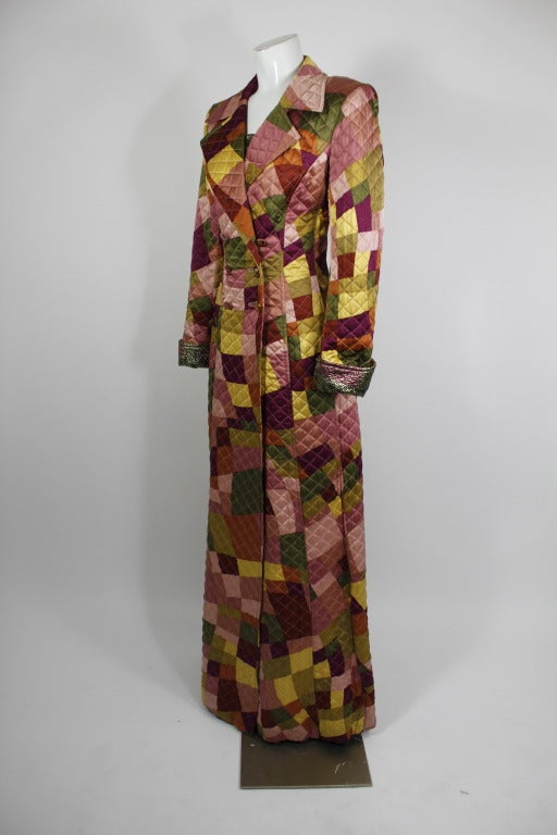 Lacroix Geometric Quilted Full Length Coat 2