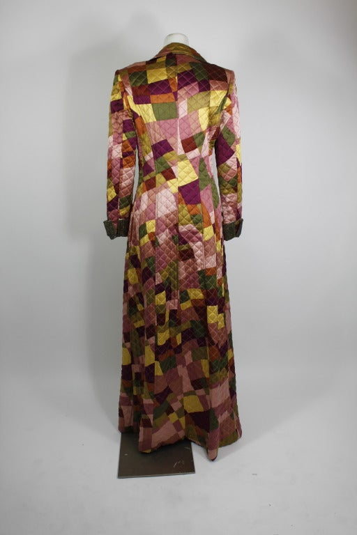 Lacroix Geometric Quilted Full Length Coat 4