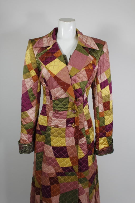 Lacroix Geometric Quilted Full Length Coat 5