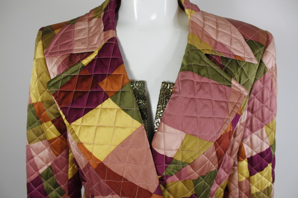 Lacroix Geometric Quilted Full Length Coat 6