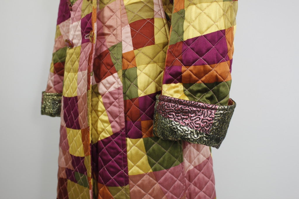 Lacroix Geometric Quilted Full Length Coat 7