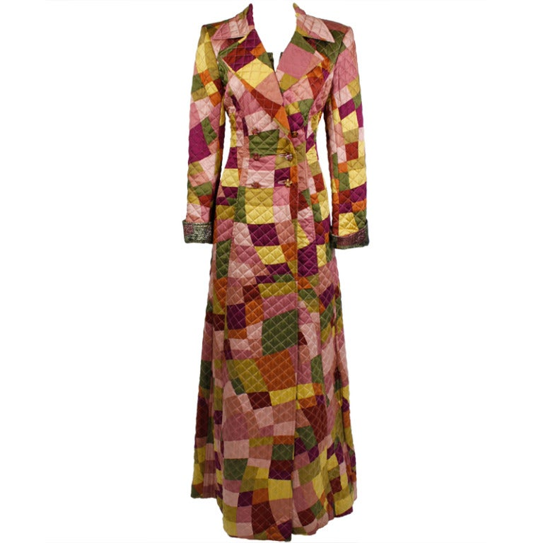 Lacroix Geometric Quilted Full Length Coat 1