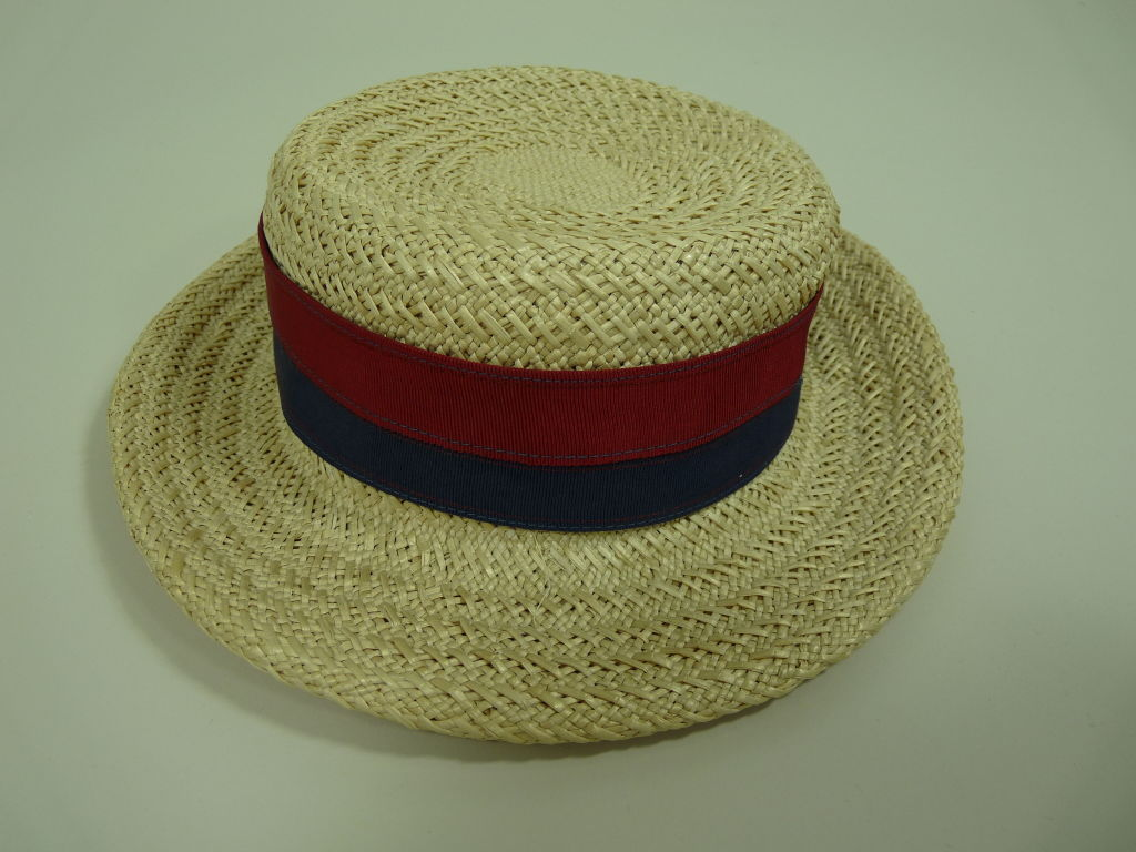 Chanel Straw Boater Hat image 2