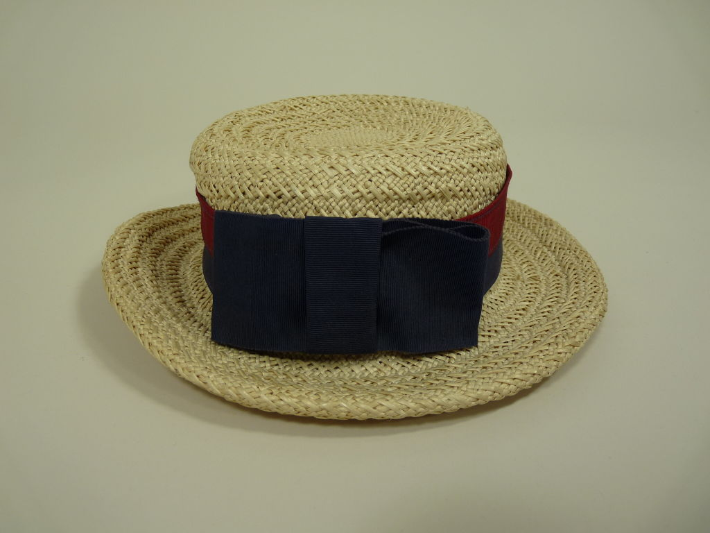 Chanel Straw Boater Hat image 3