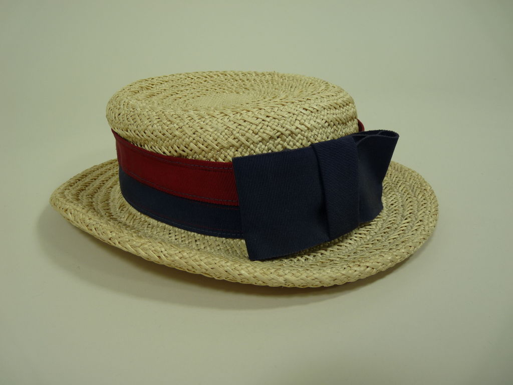 Chanel Straw Boater Hat image 4