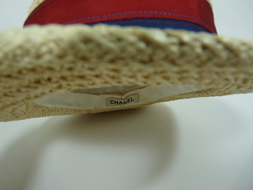 Chanel Straw Boater Hat image 5