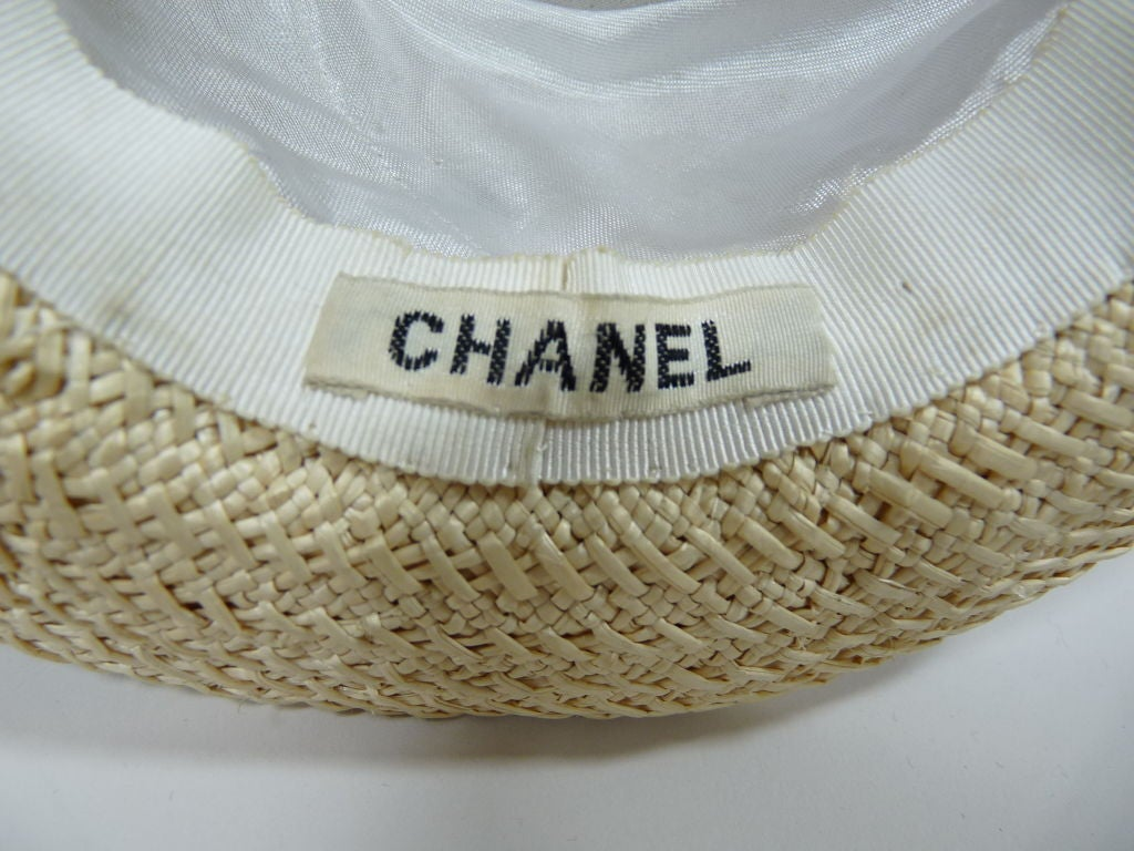 Chanel Straw Boater Hat image 6