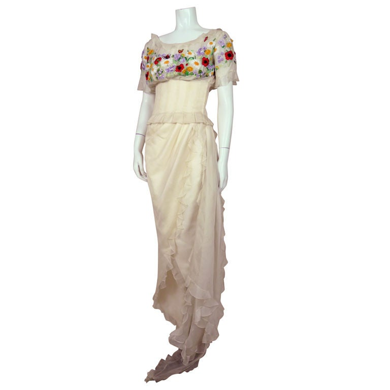 Christian dior couture lesage embroidered ensemble at 1stdibs for Dior couture dress price