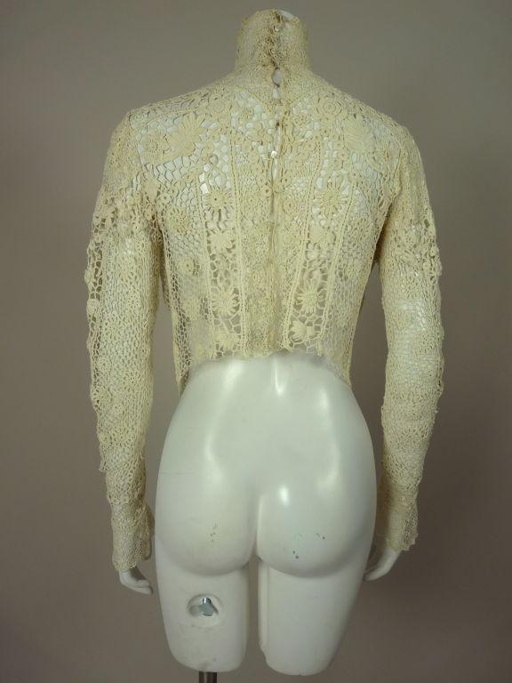 Victorian High Collar Irish Crochet Blouse 3