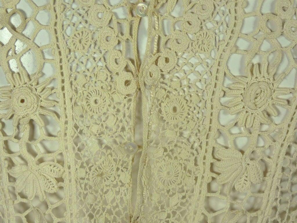 Victorian High Collar Irish Crochet Blouse 6