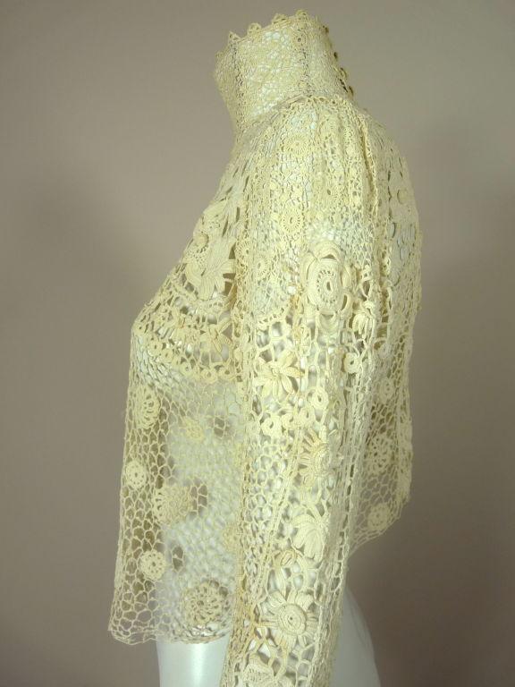 Victorian High Collar Irish Crochet Blouse 7