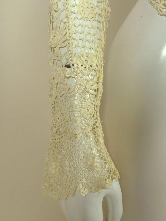 Victorian High Collar Irish Crochet Blouse 9