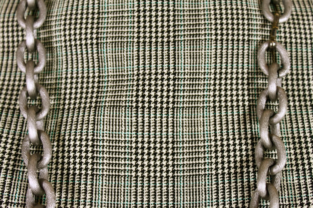 1960's Bill Blass Houndstooth Plaid Shift Dress image 8