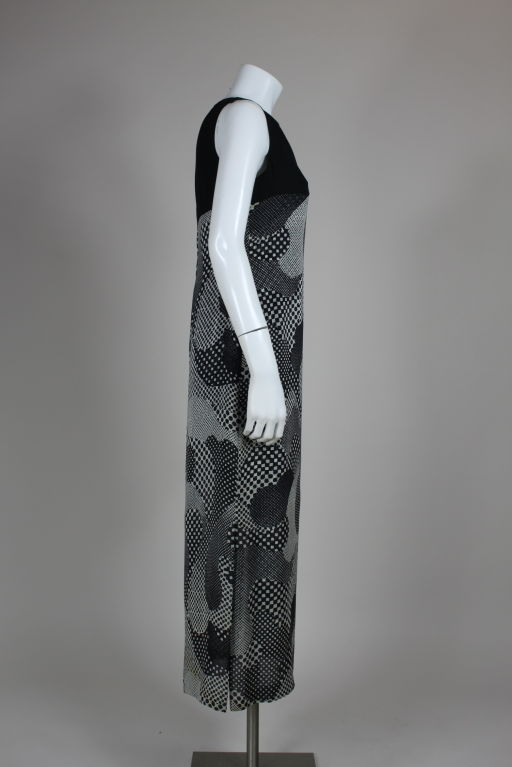 Pierre Cardin 1960s Psychedelic Print Silk Gown 3