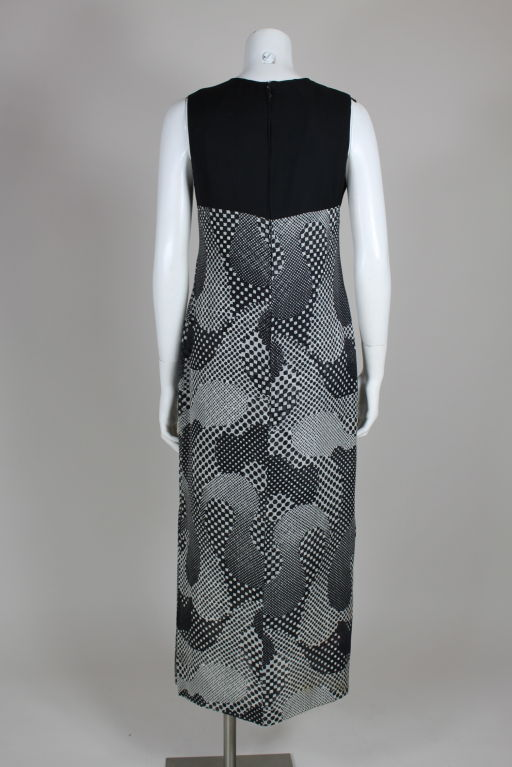 Pierre Cardin 1960s Psychedelic Print Silk Gown 4