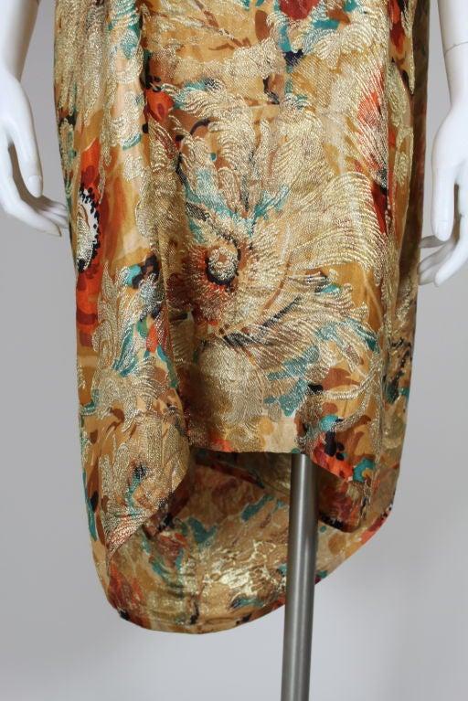 1920's Draped Gold Lamé Dress 10