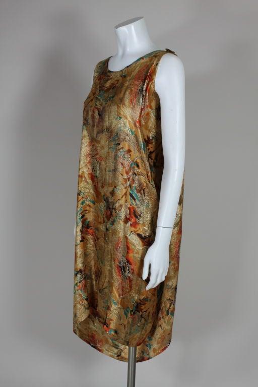 1920's Draped Gold Lamé Dress 2