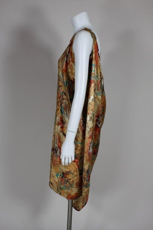 1920's Draped Gold Lamé Dress 3