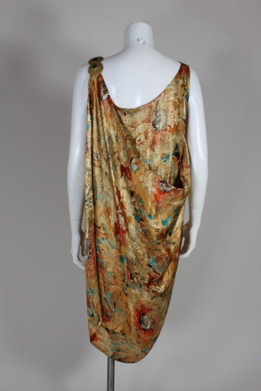 1920's Draped Gold Lamé Dress 4