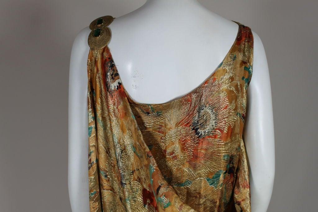1920's Draped Gold Lamé Dress 5