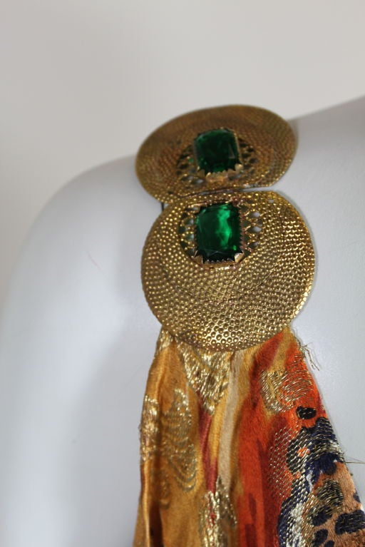 1920's Draped Gold Lamé Dress 7