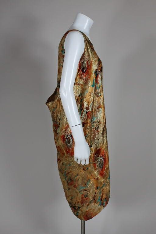 1920's Draped Gold Lamé Dress 8