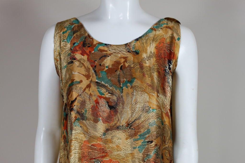 1920's Draped Gold Lamé Dress 9