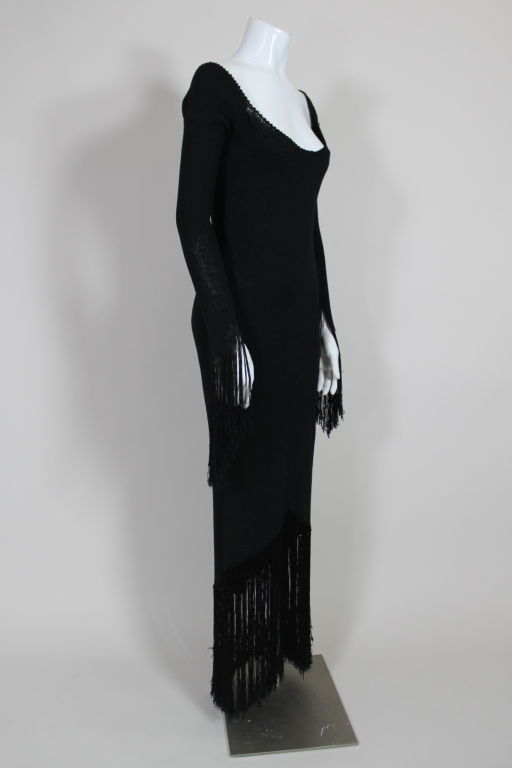 1970's Sant'Angelo Knit Fringed Dress 4