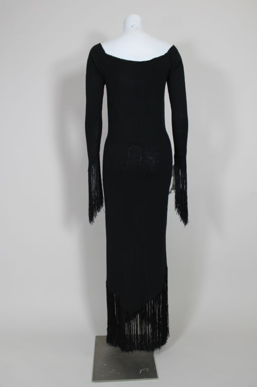 1970's Sant'Angelo Knit Fringed Dress 6