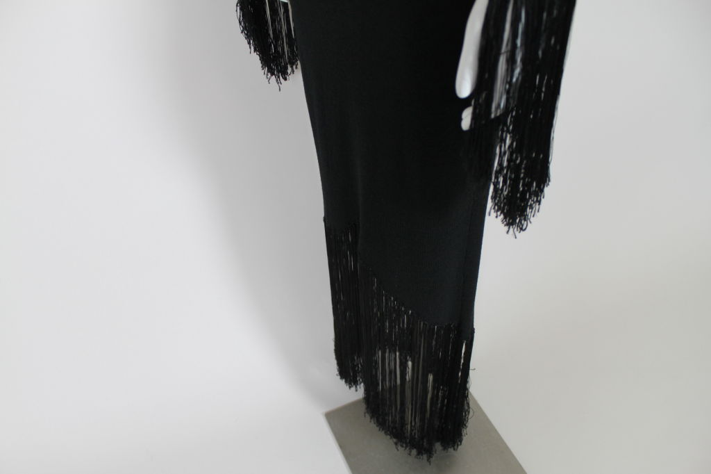 1970's Sant'Angelo Knit Fringed Dress 8