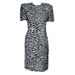 Carolina Herrera Solid Sequined Shift Dress