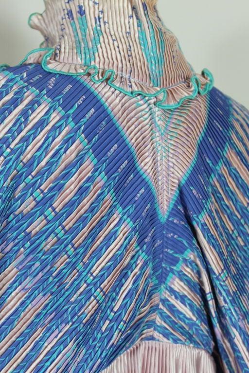 Zandra Rhodes 1970s Silkscreened Fan Pleated Jacket 10