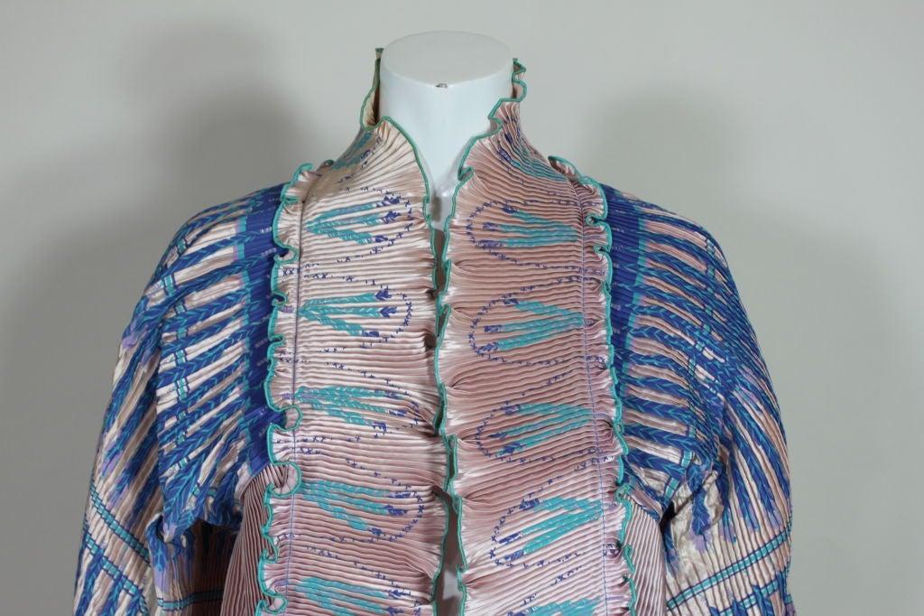 Zandra Rhodes 1970s Silkscreened Fan Pleated Jacket 2