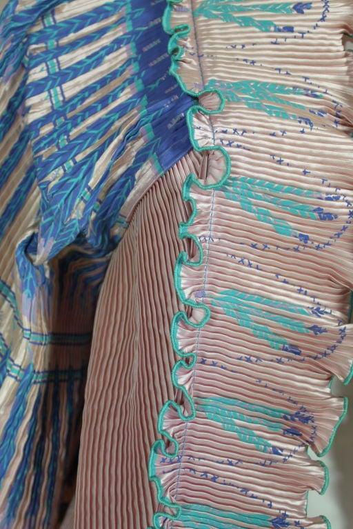 Zandra Rhodes 1970s Silkscreened Fan Pleated Jacket 3