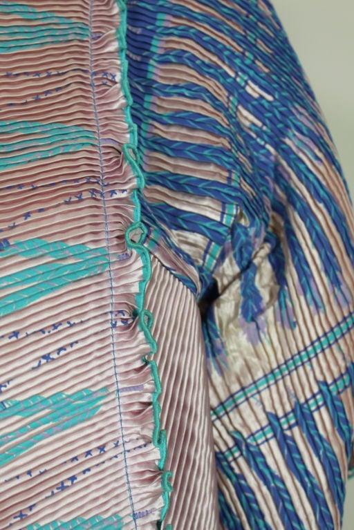 Zandra Rhodes 1970s Silkscreened Fan Pleated Jacket 4