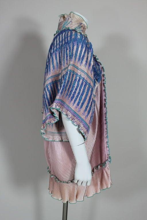 Zandra Rhodes 1970s Silkscreened Fan Pleated Jacket 6