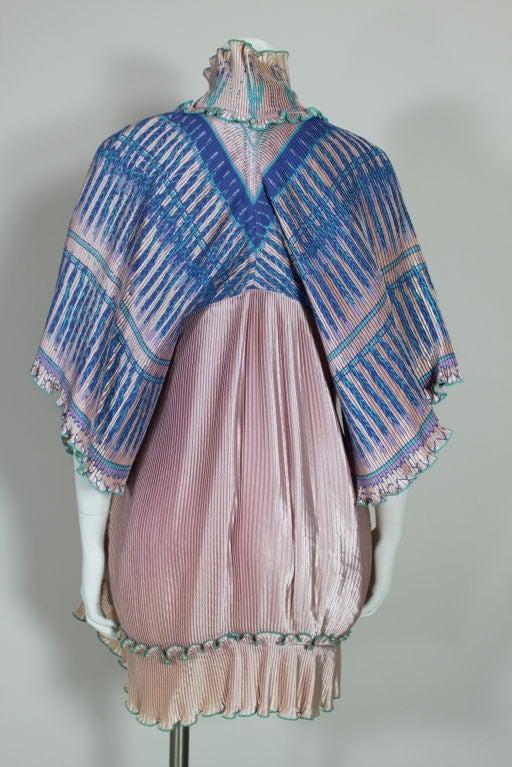 Zandra Rhodes 1970s Silkscreened Fan Pleated Jacket 7