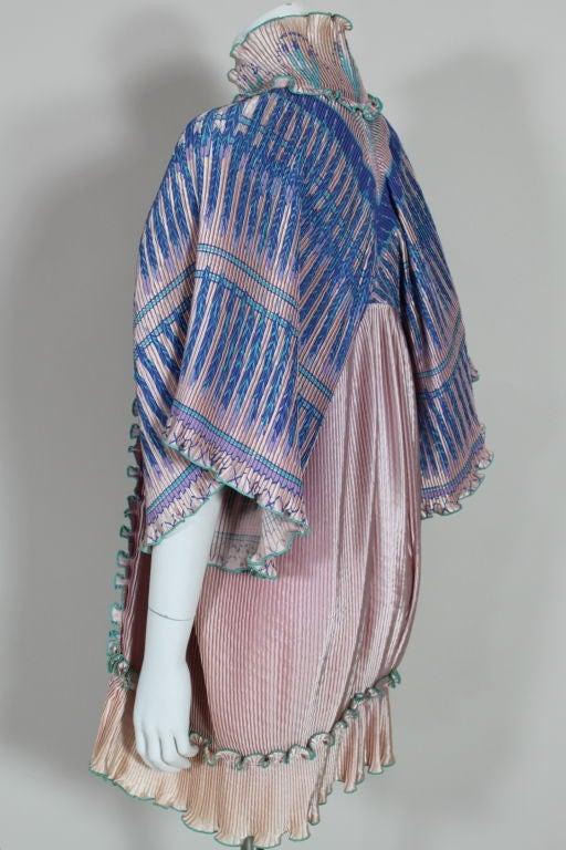 Zandra Rhodes 1970s Silkscreened Fan Pleated Jacket 8