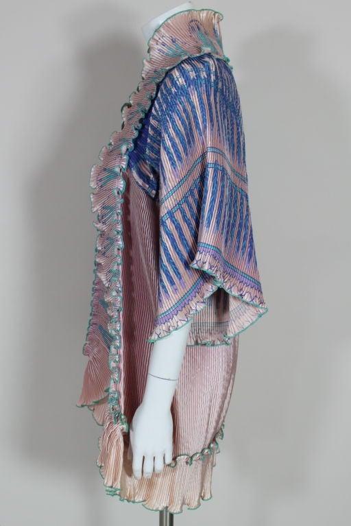 Zandra Rhodes 1970s Silkscreened Fan Pleated Jacket 9