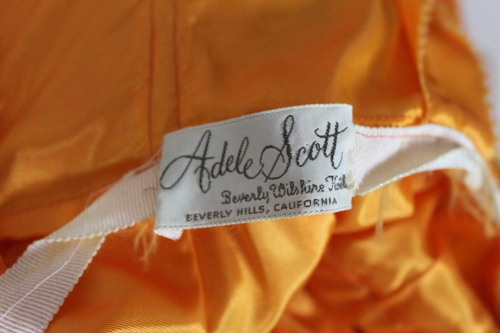 1950's Orange Silk Bubble Hem Dress 8