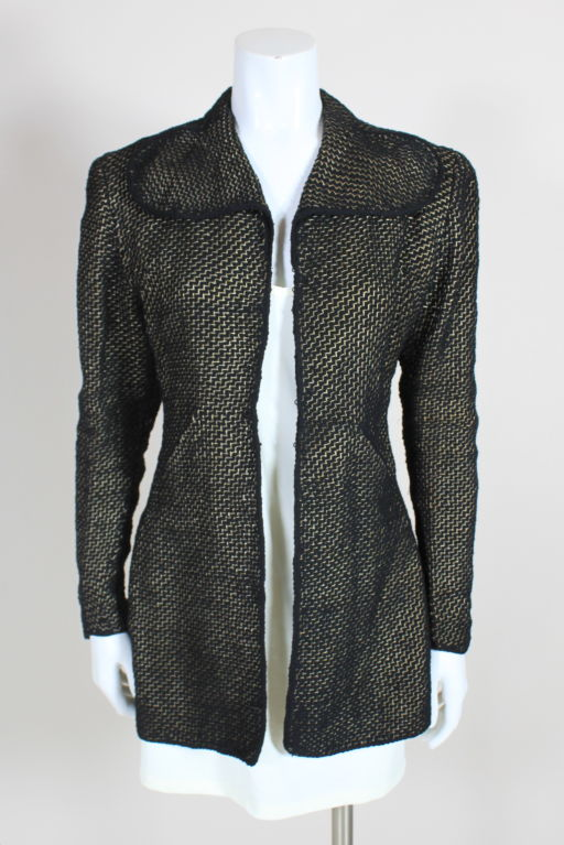 1930 S Pola Stout Metallic Hand Woven Jacket For Sale At