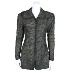 1930's Pola Stout Metallic Hand Woven Jacket