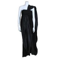 Bill Blass Taffeta and Jersey Evening Gown